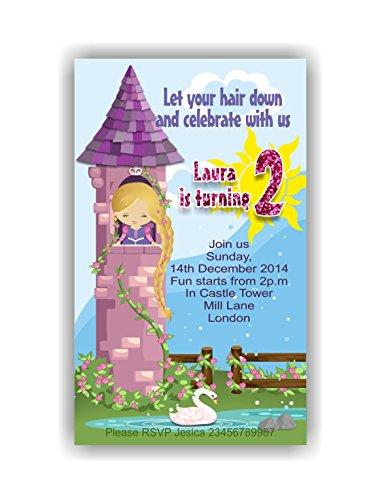 zel personalisierbar Kinder Geburtstag Party Einladungen oder Dankeskarten ()