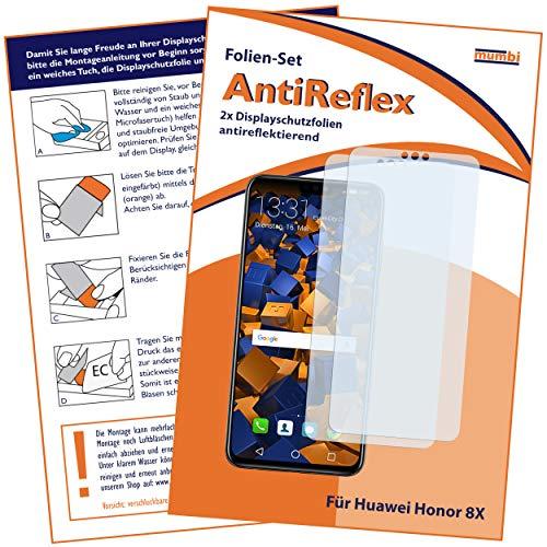 mumbi Schutzfolie kompatibel mit Huawei Honor 8X Folie matt, Bildschirmschutzfolie (2x)