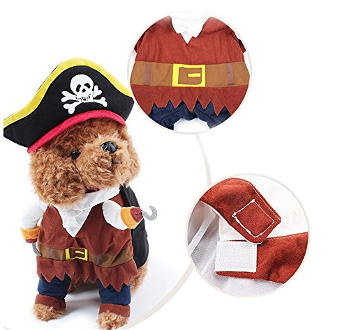 Animali Domestici Festival Dress Up, Badalink Perfetto per Gatti Pirata Costume Cute Pet (S)