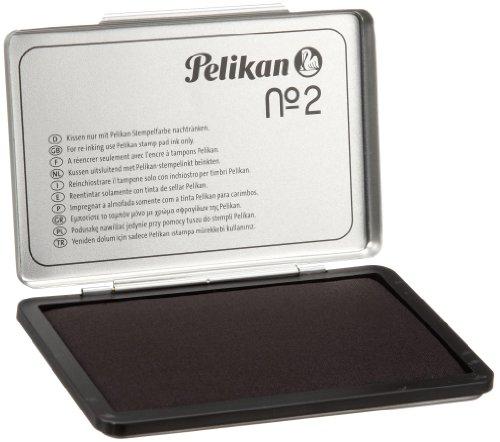 Pelikan 331777 Stempelkissen 2, getränkt, 7x11 cm, schwarz (Frustfreie Verpackung)