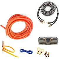 Set of 1.24kg 6800W Pure Copper 6GA 1050Cores Power Cable Auto Car Audio Subwoofer Amplifier Speaker Installation Wiring Kit 5m Cables