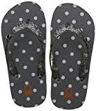 United Colors of Benetton Girl's Grey Flip-Flops-9 Kids UK/India (28 EU) (18P8CFFPG401I)