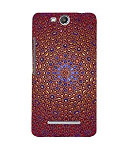 printtech Ethinic Pattern Back Case Cover for Micromax Bolt Q338