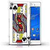 Carcasa/Funda STUFF4 dura para el Sony Xperia Z3 / serie: Jugando a las cartas - Jack de clubes
