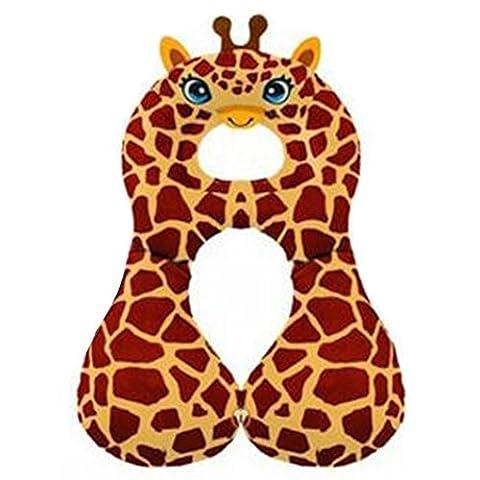 Highdas New Children Car Seat Stroller Safety Belt Protective Pillow Anti Friction Pad 1-4Y (Giraffe)