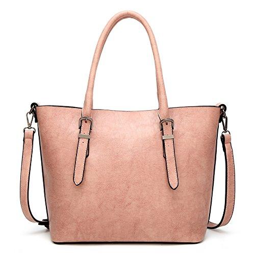 Mefly La Nuova Moda Borsetta Bulk Semplice Sacchetto Signora Claret Pink