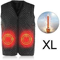 Elektrisch beheizte Weste,5 Größen Elektrische Heizweste Temperatureinstellung Winter Warm Up Jacket Waschbar USB Aufgeladen Intelligente Heizung für Outdoor Aktivitäten bei kaltem Wetter (XL)