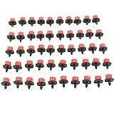 HeroNeo® 50pcs Garden Irrigation Misting Micro Flow Dripper Drip Head 1/4'' Hose