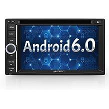 """Pumpkin 6.2"""" Pantalla Táctil Android 6.0 Marshmallow Quad Core 2 Din Auto Radio Universal para Coche con GPS Navegador Soporta 1080P Vídeo/ Mirror-link / Control de Volante / DVD / WiFi / USB / SD / Bluetooth / AV-OUT"""