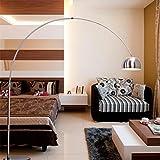 ZYY&LIGHT® Lámpara de piso Retro Style Silver Balck Marble Base Style Lámpara de pie de arco Style , A