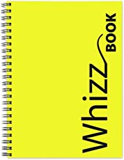 Canson Whizz Book 80 GSM A5 Art Book of 136 Fine Grain Sheets - Yellow Spiral Cover