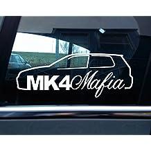 Turnerco - Pegatina para coche (VW Golf mk4 R32, GTI), diseño con texto Mk4 Mafia