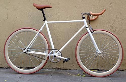 MOWHEEL Bicicleta Fixie Monomarcha Single Speed FB-01