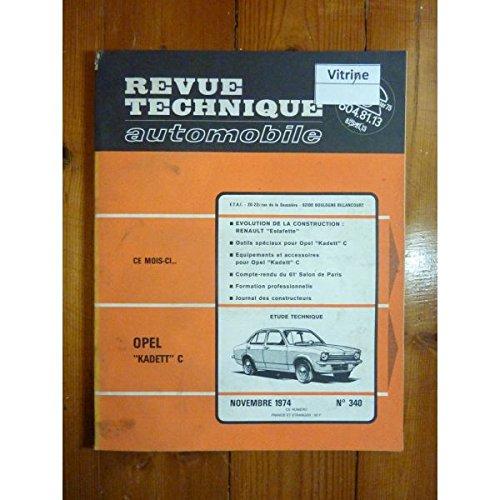 RTA0340 - REVUE TECHNIQUE AUTOMOBILE OPEL KADETT C