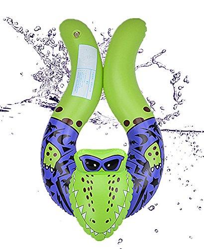 Cartoon-Tiere schwimmen Ring , Chickwin Baby Aufblasbare Schwimmbad Float Swim Ring Schwimmen Ring Achselhöhle Baby Aufgeblasen Schwimmen Ring (Crocodile) (Aufgeblasen Cap)