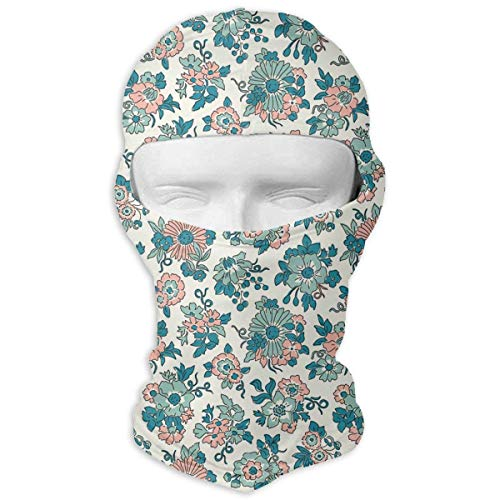 Hoklcvd The Flowers were Blue and Green Full Face Mask Sun Dust Wind Protection Durable Breathable Seamless Face Mask Bandana Design12 - Wolle Herren Trapper Mütze