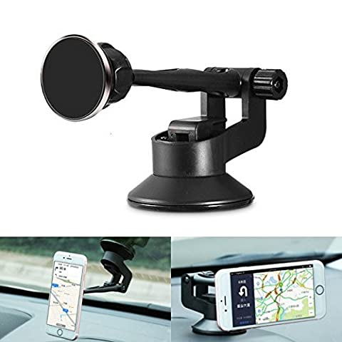 ABS Aluminum Alloy Suction Cup Magnetic absorb voiture Navigation Phone Holder