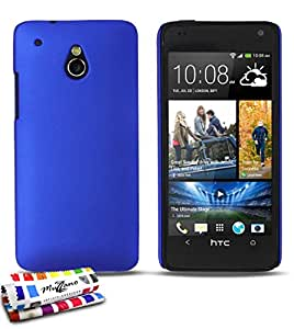 Ultraflache harte Schutzhülle HTC ONE MINI (M4) [Le Pearls Premium] [Blau] von MUZZANO + STIFT und MICROFASERTUCH MUZZANO® GRATIS - Das ULTIMATIVE, ELEGANTE UND LANGLEBIGE Schutz-Case für Ihr HTC ONE MINI (M4)