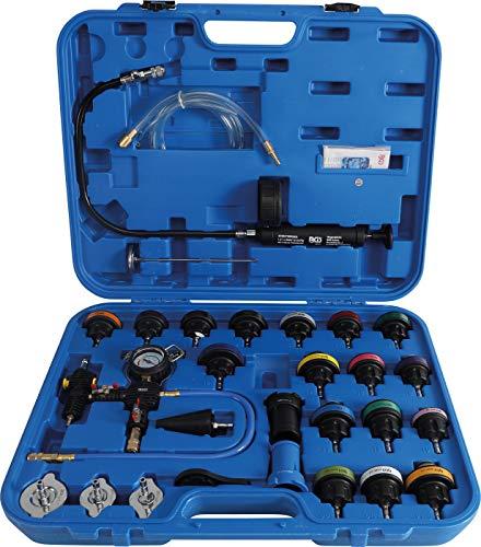 BGS 8098 , Kühlsystem-Abdrück-Satz , 28-tlg. , inkl. Befüllsystem , Kühlmittel , Kühler , Tester, Prüfgerät, Testkoffer