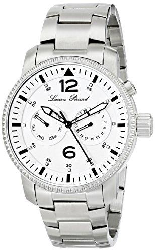 Lucien Piccard LP-13017-22 - Reloj de pulsera hombre, acero inoxidable, color Plata