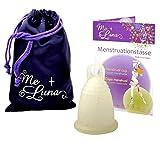 Me Luna Menstrual Taza Deportes, Anillo, oro de Glitter, tamaño XL