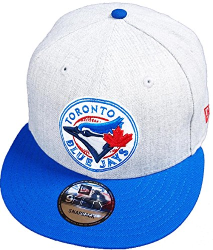 New Era Toronto Blue Jays Heather Grey Royal MLB Snapback Cap 9fifty Limited Edition Royal Blue Cap