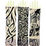 Aadishwar Creations Funky Tattoo Sleeves - Multicolor - Assorted for Men Women-set of 3
