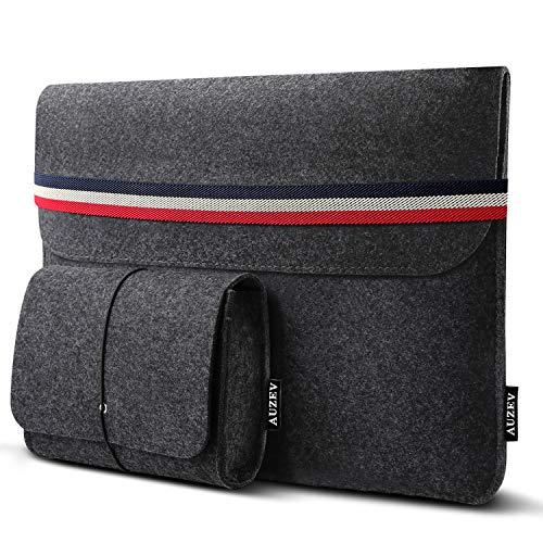 Auzev 13-13,3 Zoll Laptoptasche mit extra Aufbewahrungsbox, 13,3 Zoll Filz Sleeve Hülle Ultrabook Laptop Tasche für 13