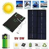 Pergamena Rate Portable 2W 5V caricatore USB Pannello Solare Panel USB Port...
