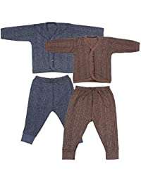 DECORE Front Open Kids Thermal Top & Pyjama Set for Baby Boys & Baby Girls