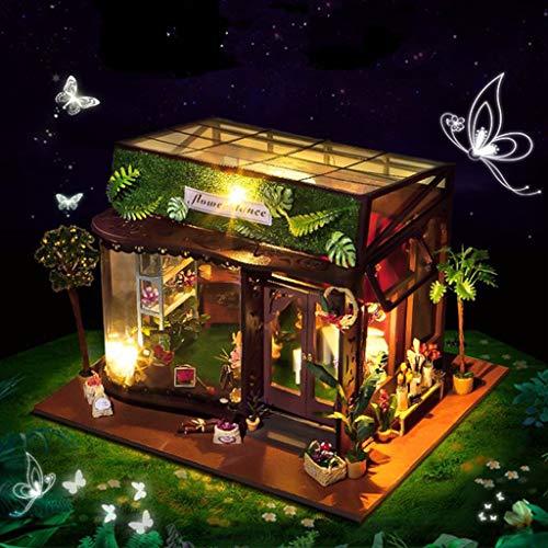Mitlfuny Kawaii Langsam Dekompression Creme Duftenden Groß Squishy Spielzeug Squeeze Spielzeug,Hölzernes DIY Miniaturhaus-LED-Puzzle des Haus-DIY verzieren kreative Geschenke