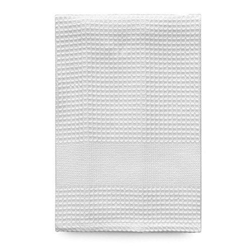 Telo doccia nido d'ape di morbidissimi in puro cotone s275 bianco