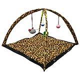Warenhandel König Pop Up Katzenteppich Teppich Matte mit Spielzeug für Katze und Hund (Leo)