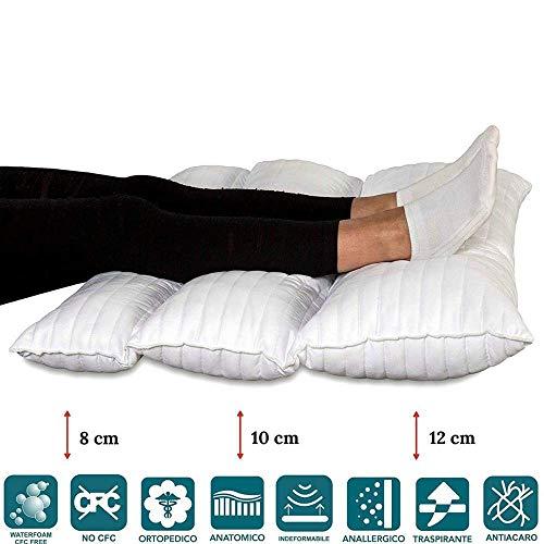 evergreenweb - cuscino gambe terapeutico pieghevole da letto o divano, ortopedico per il recupero da chirurgia, dolore alla schiena e all'anca, dolore alla gamba, circolazione, misure 72x55 pilmed