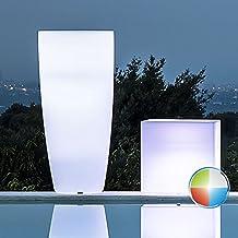Jarrón Agave, redondo, con luz blanca, de 90 cm de altura y 40 cm de diámetro