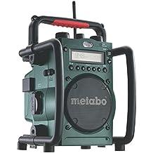 Metabo Akku-Baustellenradio RC 14.4-18V / robustes Outdoor Radio mit Ladefunktion für Li-Power Akkupacks oder Netzbetrieb / Akku Betrieb bis zu 31 Stunden / spritzwasserfest & funktional