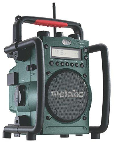 Metabo Akku-Baustellenradio RC 14.4-18V / robustes Outdoor Radio mit Ladefunktion für Li-Power Akkupacks oder Netzbetrieb/Akku Betrieb bis zu 31 Stunden/spritzwasserfest & funktional