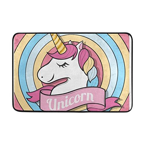 COOSUN Feliz Unicornio Cara Felpudo