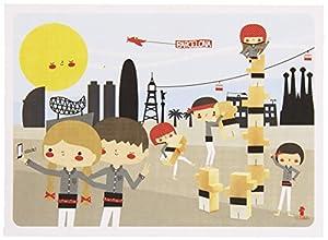 El Nan Casteller- Nan castellers Práctico y Fácil de llevar | Puzzles Infantiles 48 Piezas + Postal, Multicolor (v14)