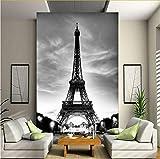 Zybnb Papel Tapiz Fotográfico En 3D Arquitectura Clásica Europea Torre Eiffel Mural Sala De Estar Entrada Contexto Decoración Papel Tapiz