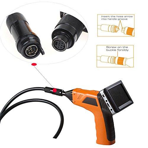 Boblov 8803AL 2.4G Wireless Inspektionskamera Abnehmbar 3.5 Zoll LCD Monitor flexiblen Schwanenhals Rohr Endoscope Snake Cam Video Aufnahme Recording (8803AL) 2.4 G Wireless-lcd