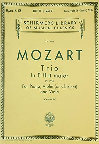 W.A.Mozart: 'Kegelstatt' Trio For Clarinet, Viola And Piano K.498 (Sco