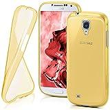 moex Samsung Galaxy S4 Mini   Hülle Silikon Transparent Gold Clear Back-Cover TPU Schutzhülle Dünn Handyhülle für Samsung Galaxy S4 Mini Case Ultra-Slim Silikonhülle Rückseite