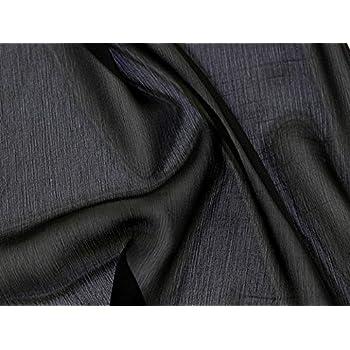 Uni yoryu Crinkle Chiffon Kleid Stoff, Meterware, Schwarz  Amazon.de ... dab9f8549d