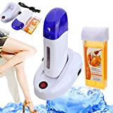 LuckyFine Roll On Refillable Depilatory Wax Heater Waxing Hair Removal Kit Tools Machine