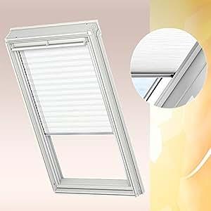 VELUX standard FHL Store plissé FHL S06/6061016S Décor Blanc uni spécialement conçu pour GGL GPL GHL S06/606avec rails de guidage en aluminium