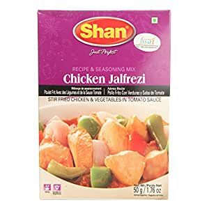 Shan Chicken Jalfrezi - Recipe and Seasoning Mix, 50g Box: Amazon in