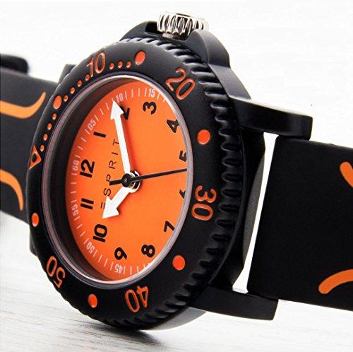 Esprit Jungen Armbanduhr Datum klassisch Quarz Plastik ES108334004 - 4