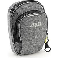 GIVI EA109GR Easy Bag Bolsillo de Pierna Gris con Dos Ranuras, Volumen 1 Litro, Carga Máxima 1 Kg