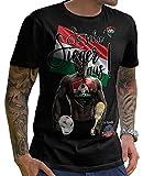 Stylotex Herren T-Shirt Basic So sehn Sieger aus Guy Ungarn Hungary, Farbe:schwarz;Größe:M